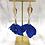 Thumbnail: Whimsical Black Girl True Blue Trumpet Earrings