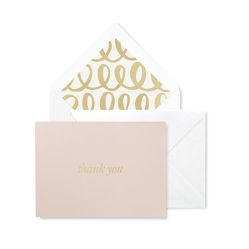 kate spade new york thank you note card, heart knot