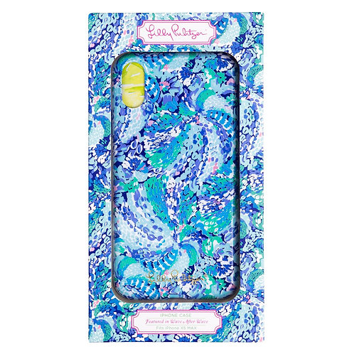 lilly pulitzer iphone xs max case, wave after wave