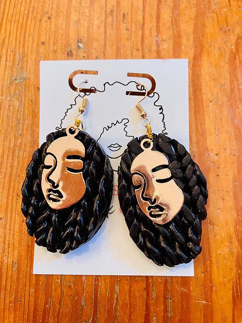Whimsical Black Girl Box Braid Hippies