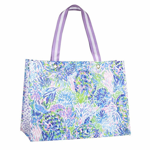 lilly pulitzer xl market shopper, shell of a party