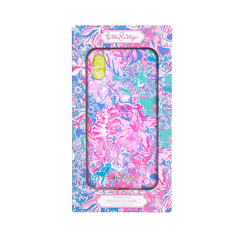 lilly pulitzer iphone x/xs case, viva la lilly