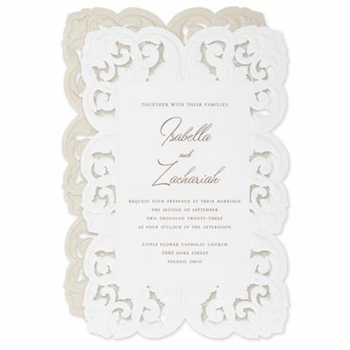 Ornate Flourish Invitation - CL60572