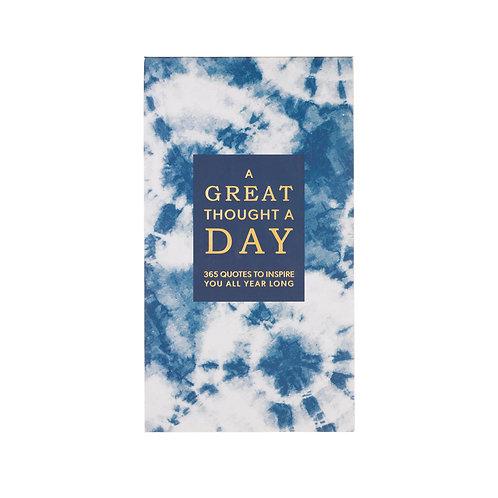 Eccolo Great Thought A Day Pad - Shibori