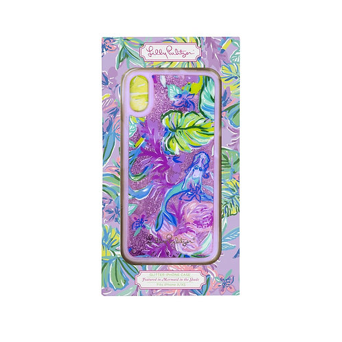 lilly pulitzer iphone glitter x/xs case, mermaid in the shade