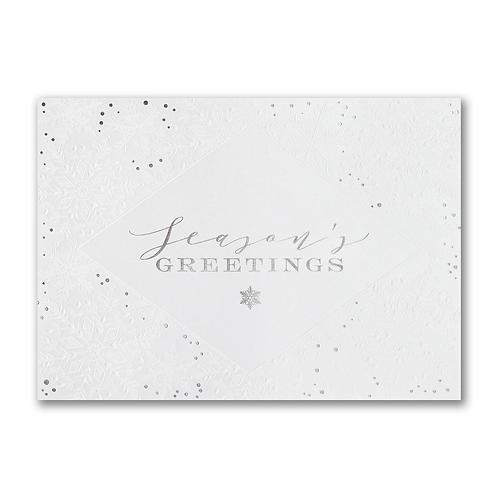 Shimmering Snowflake Greetings  XAM2001