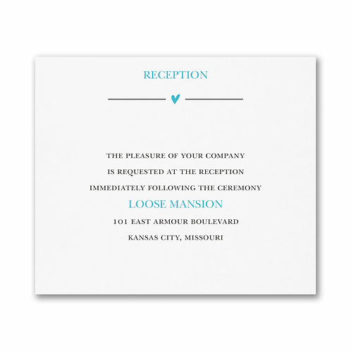 Wedding Whimsy Reception Card