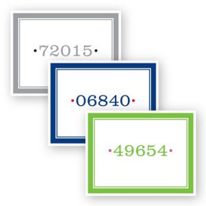 Zip Code Foldover Notecards