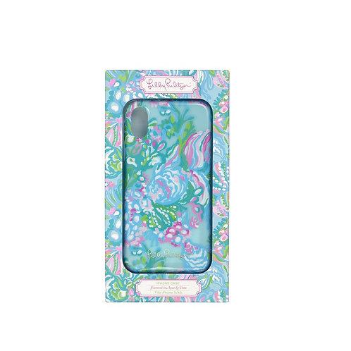 lilly pulitzer iphone case xs, aqua la vista