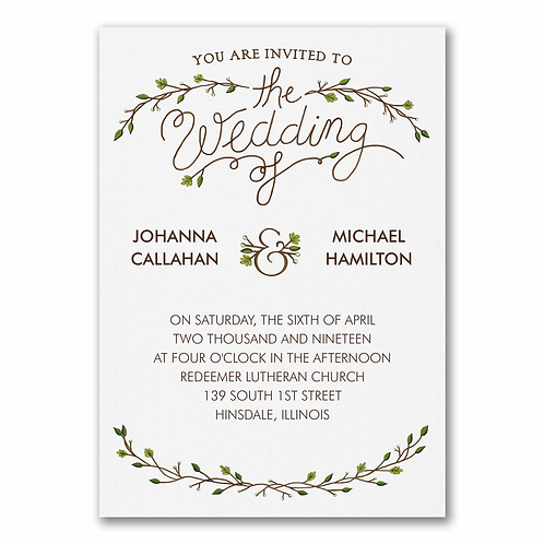 Whimsical Rustic Invitation - TWS39344