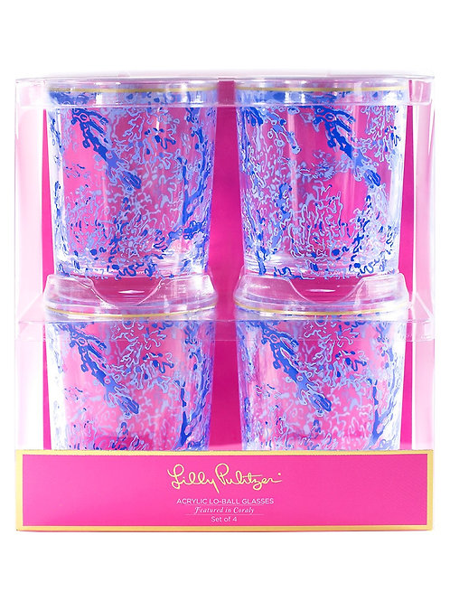 Lilly PulitzerAcrylic Lo-Ball Glasses - Turtley Awesome