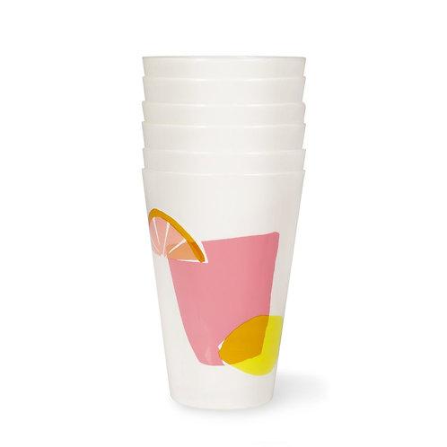 kate spade new york pool cup set, citrus celebration
