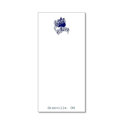 Arts Boosters - Skinnie Music Notepad