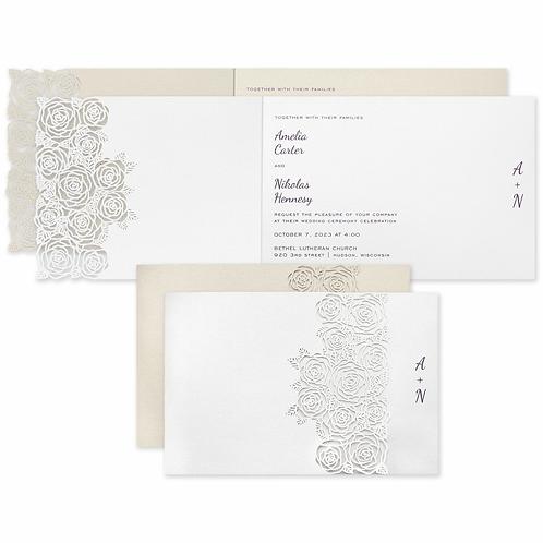 Rose Bouquet Invitation -CL60443