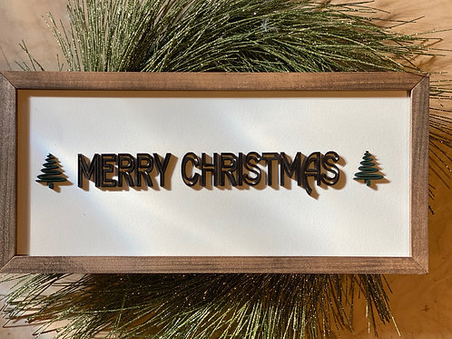 "WFS Merry Christmas 18"" Wooden Sign"