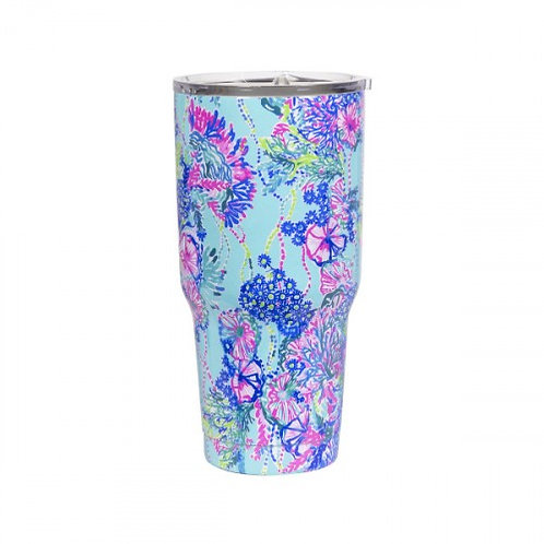 lilly pulitzer stainless steel tumbler, beach you to it