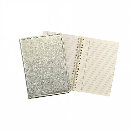 "7"" Wire-O-Notebook Metallic Goatskin Leather - JS7-GTI"