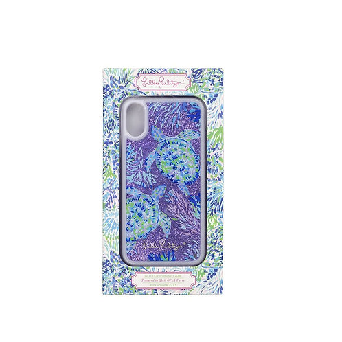 lilly pulitzer glitter iphone case x/xs, shell of a party