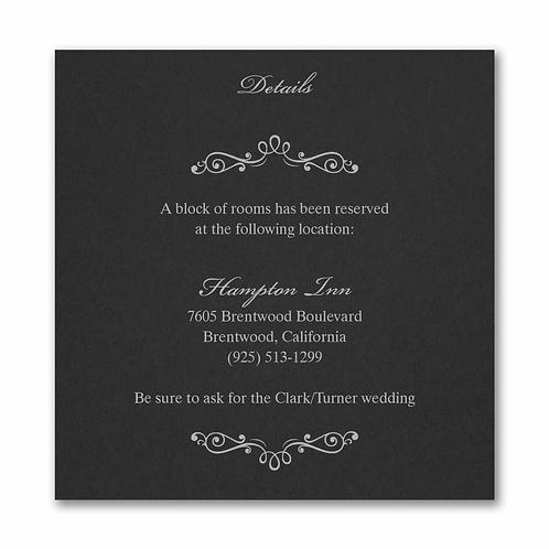 Wedding Bliss Accommodation Card - MMAC54961BK