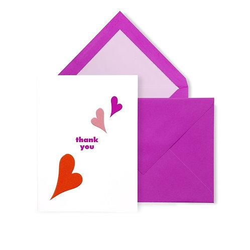 kate spade new york thank you card set, heart lips
