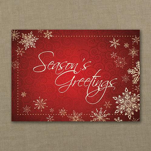 Season's Greetings Snowflakes - YM26741FC