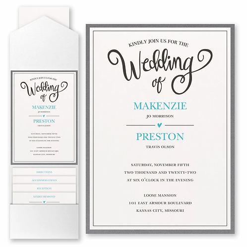 Wedding Whimsy with Pocket and Backer - FBN56994A