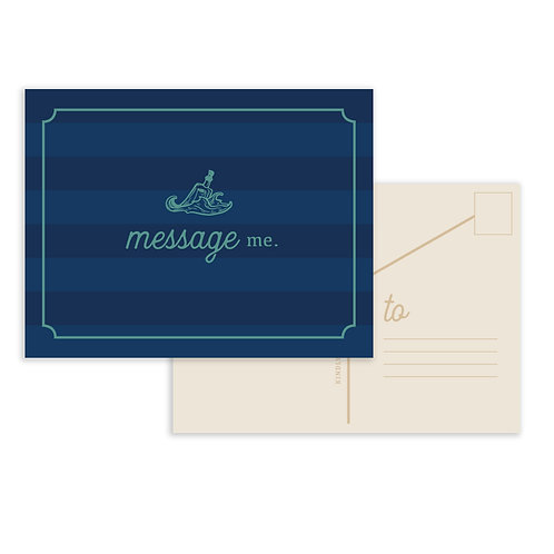Message In A Bottle: Message Me Postcard