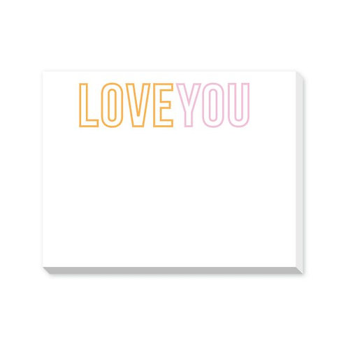 Love You Mini Notepad