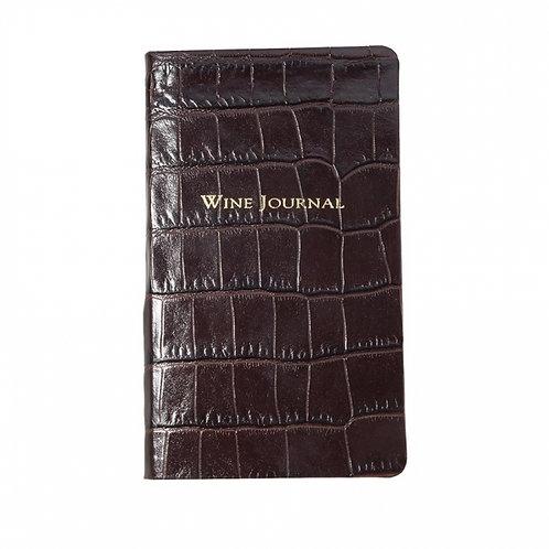 Pocket Wine Journal Crocodile Embossed Leather - PWN CRO