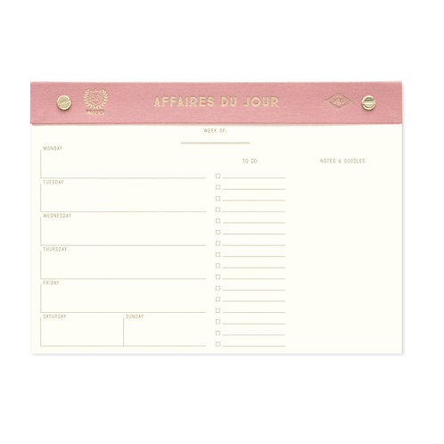 AFFAIRS OF THE DAY   Weekly Desk Planner