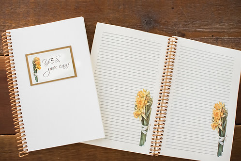 Daffodil Spiral Notepad