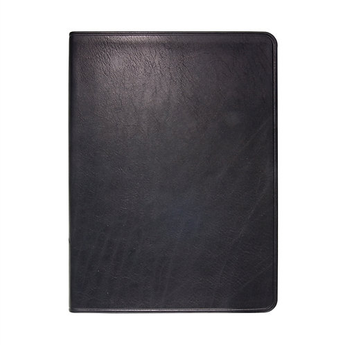 "9"" Flexible Cover Journal Black Traditional Leather - JLL-TR1"