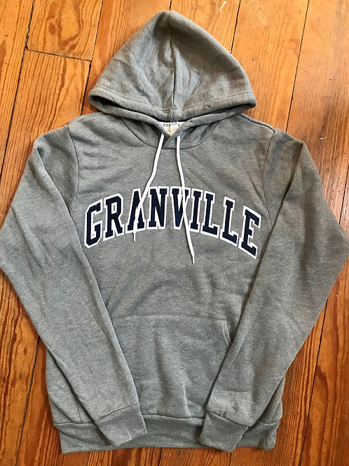 Discontinued Light Gray Varsity Granville Hoodie