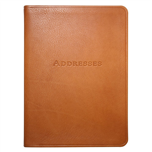 """7"""" Desk Address Book Traditional Leather - AB7-TR1"""