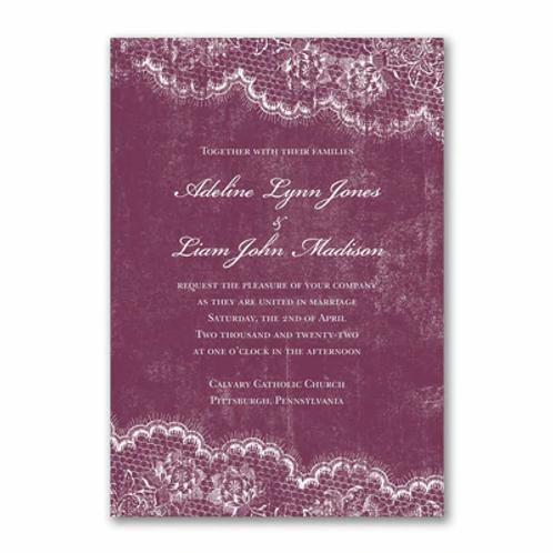 Timeless Lace Invitation -FB56855D