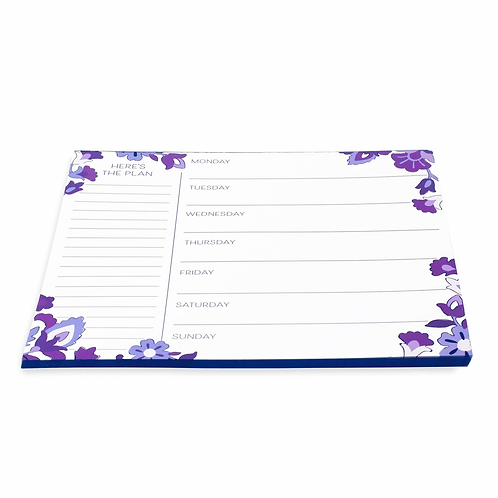 Vera Bradley Weekly To Do List Pad, Regal Rosette
