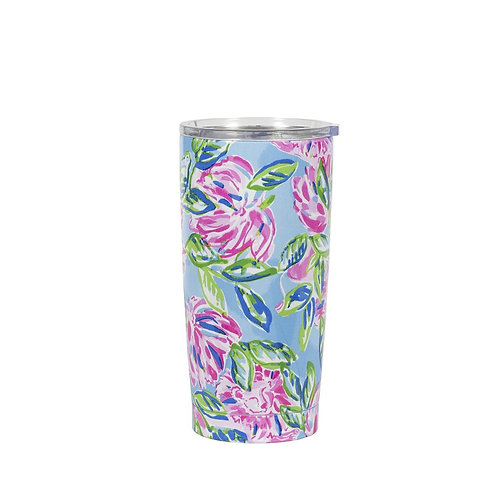 lilly pulitzer stainless steel thermal mug, totally blossom