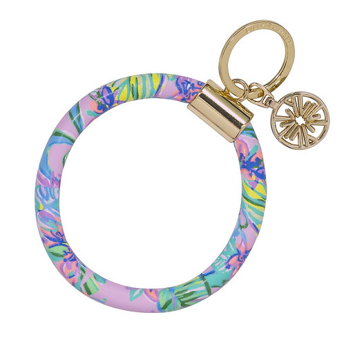 lilly pulitzer round keychain, mermaid in the shade