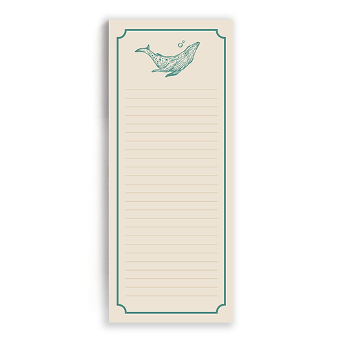 Message In A Bottle: List Pad (Whale)