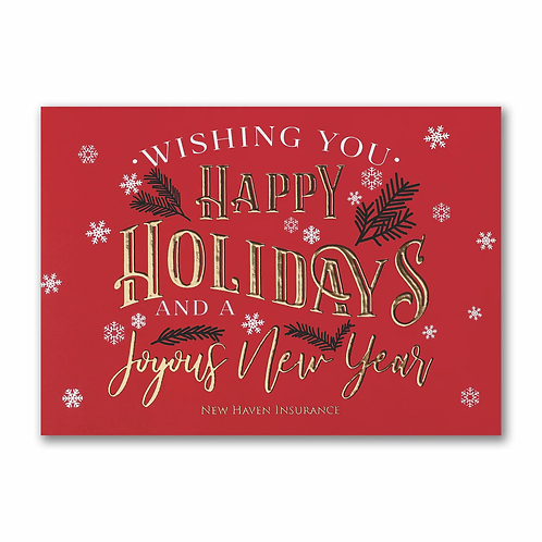 Joyful Holidays - Holiday Card  YU59339C
