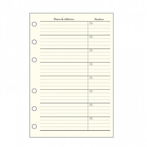 Address Book Refills - DBR