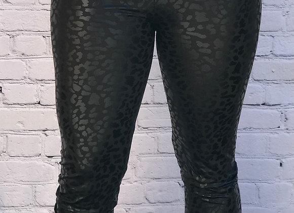 Leather Leopard Leggings