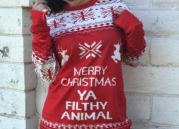 Ya Filthy Animal Christmas Sweatshirt
