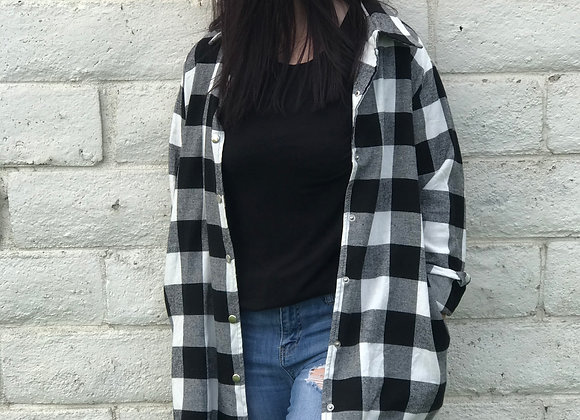 White Sarah Buffalo Check Flannel