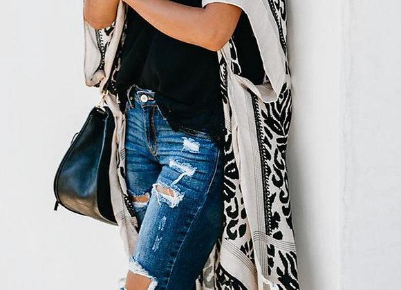 Black & White Kimono