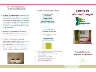Serviço de Neuropsicologia do Centro Clínico - Personalizar