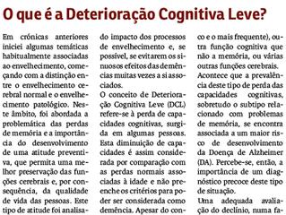 O que é a Deterioração Cognitiva Leve?