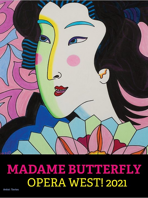 """16"""" x 20"""" Madame Butterfly Concert Poster"""