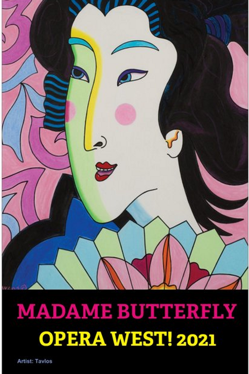 """11"""" x 17"""" Madame Butterfly Concert Poster"""