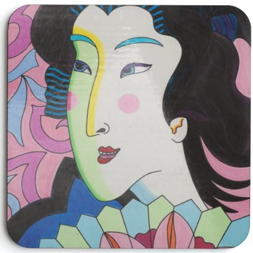 Set of 4 Madame Butterfly Coasters